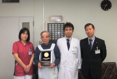 ボランティアの大内さんが日本弁理士会会長奨励賞を受賞しました