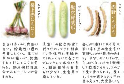最上伝承野菜について