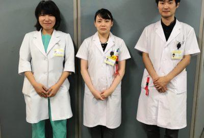 山形大学医学部の学生が臨床実習を行っています