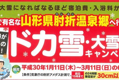 「ドカ雪・大雪割キャンペーン」!