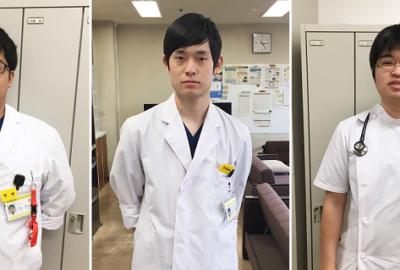 山形大学医学部の学生が熱心に臨床実習中です!