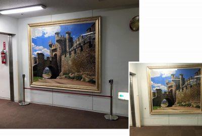 新しい大きな絵画が飾られました