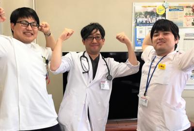 只今、山形大学医学部の学生が臨床実習を行っています