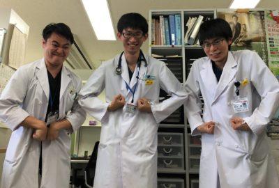 ただ今、医学生が臨床実習を行っています