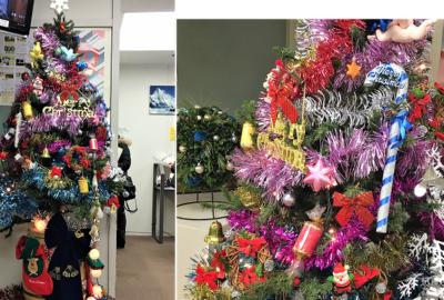 恒例のクリスマスツリーが登場しました!
