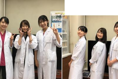 医学生が臨床実習を行っています