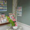 玄関のお花紹介(4月号)